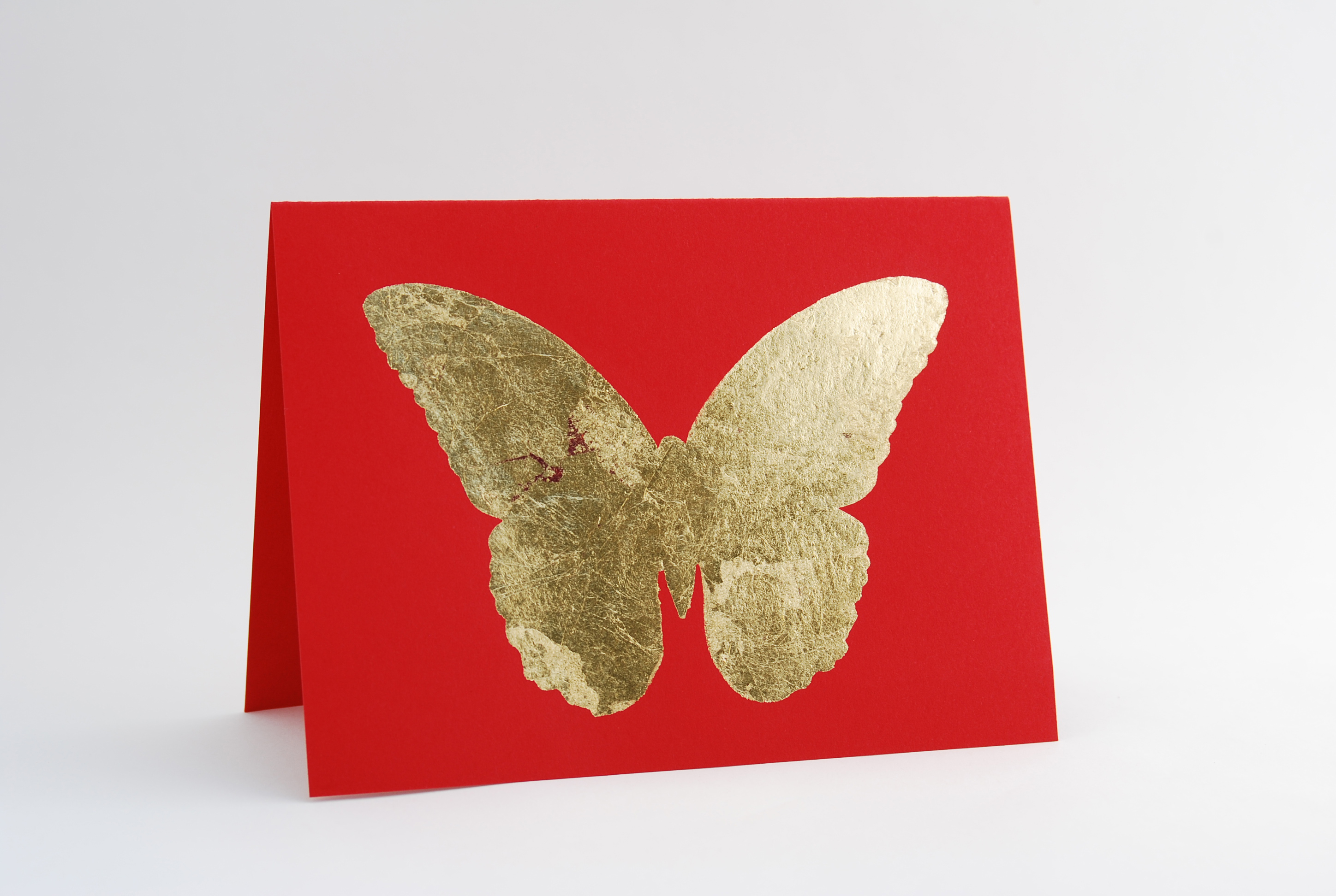 Gold-foiled butterfly